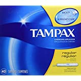 Tampax Cardboard Applicator Regular Absorbency Tampons 40 Count- Packaging May Vary