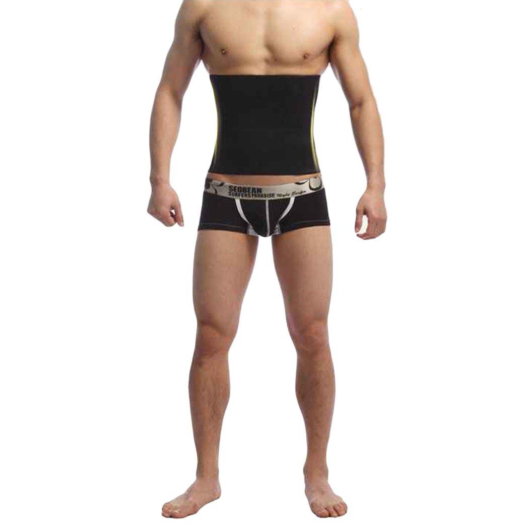 COSYOU New Fashion Men Shapewear Fat Slim Belt Tummy Cincher Corset Stomach Body Shapers Black M