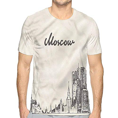 t Shirt Russia,Sketch Style Moscow Printed t Shirt M]()