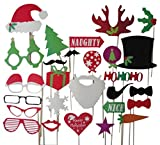 ETSYG® 27PCs Party Supplies Props Christmas Favors Tree Gift Star Heart Die Cut with Sticks and Glue
