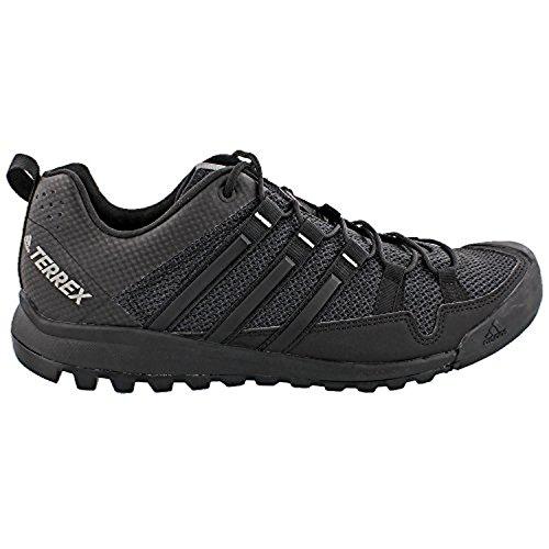 Adidas Heren Terrex Solo Schoenen Donkergrijs / Zwart / Antraciet Effen Grijs 10,5 & Handdoek