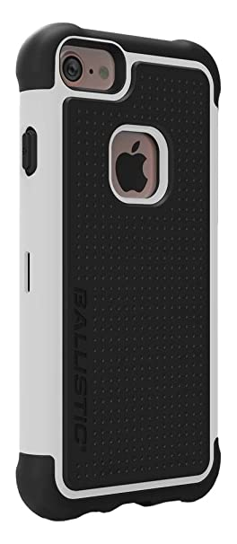 "wholesale dealer b4673 20cca Ballistic Ballistic Tough Jacket Series Case for Standard Size ""4.7-inch""  Apple iPhone 8, iPhone 7, iPhone 6s, and iPhone 6 (Black/White)"