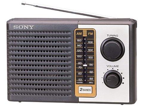 Sony ICF-F10 Two 2 Band FM/AM Portable Battery - Am Fm Radio Battery