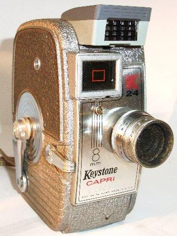 Amazon com : Keystone Capri K-24 8mm Movie Camera : Other