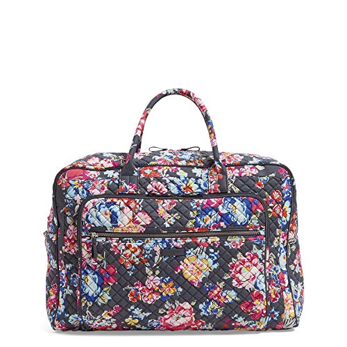 Vera Bradley Iconic Grand Weekender Travel Bag, Signature Cotton, Pretty Posies ()