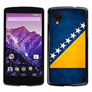 Shell-Star ( National Flag Series-Bosnia and Herzegovina ) Snap On Hard Protective Case For LG Google NEXUS 5 / E980