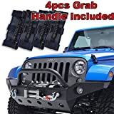 Restyling Factory 07-16 Jeep Wrangler JK Full Width Front Bumper With Fog Lights Hole and Winch Plate-Textured Black