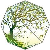 Tree Of Life Green Leaves Growing Custom Foldable Rain Umbrella