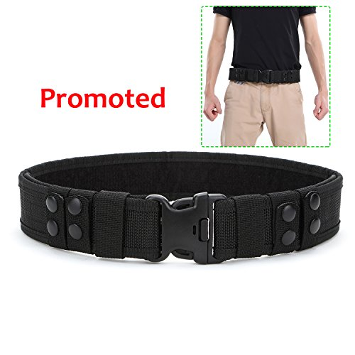 Police Utility Belt (Yahill Yahill Security Tactical Combat Belt Utility Gear Adjustable Heavy Duty Police Military Equipment for Outdoor (Black-Promoted ))