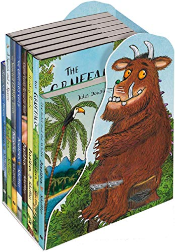 (The Gruffalo and Friends Bedtime Bookcase Collection 8 Books Set (The Gruffalo, The Gruffalos Child, Room on the Broom, The Snail and the Whale, A Squash and a Squeeze, Monkey)