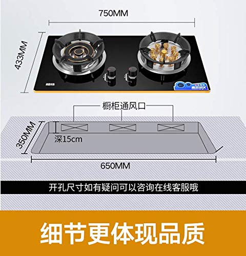 5500w Gas Stove Double Fire Home and Commercial 2 Pots Gas Hobs Dual-cooker Gas Cooktop Catering Equipment by SMILESSGSP (Image #3)