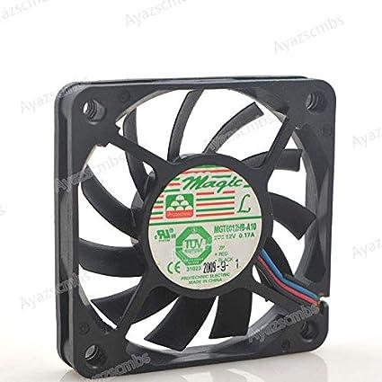 Ayazscmbs Compatible para Taiwan Yongli 6010 Ventilador Double Ball CPU Ventilador MGT6012HB-A10 12V 0.17A 3 Line