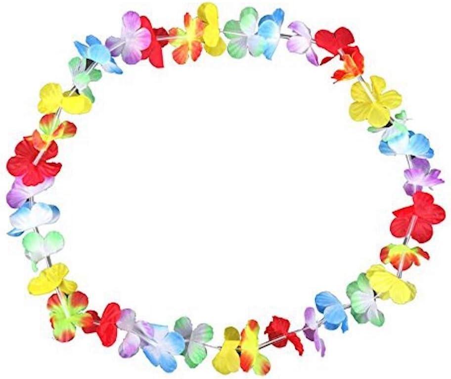 S/O®, confezione di 50 collane di fiori hawaiane multicolore