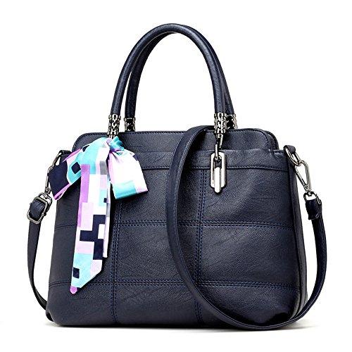 GWQGZ Nueva Bolsa De Dama Moda Atmósfera Casual Solo Hombro Bolsa Spanning Sesgar Gules Blue