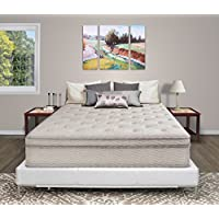 PrimaSleep Soft Flax Fabric Quilt Cover 13inch Hybrid Memory Foam Top Innerspring Comfort Mattress (Queen)