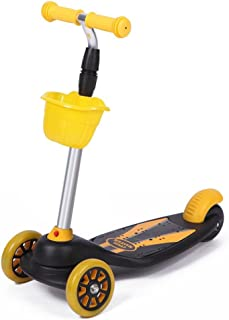 Children's Adjustable Height Scooters Aluminum Lightweight Flash Toy Tricycle Suitable for 3-12 Years Old