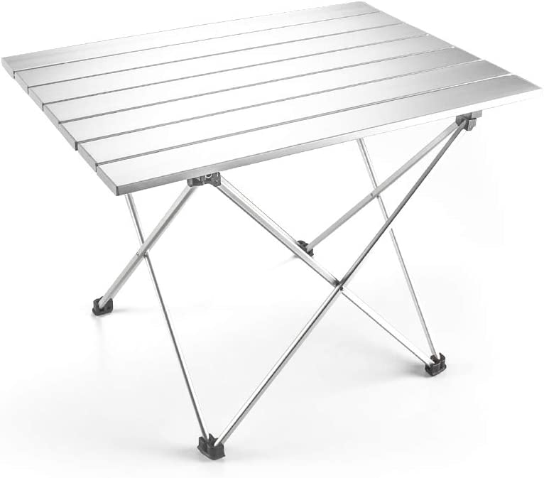 Portable Outdoor Folding Table Easy to Clean. A plus life Camping Table 22x16x16 Lightweight Aluminum Table with Carrying Bag for Outdoor and Home