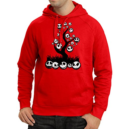 lepni.me Hoodie The Nightmare Tree - Halloween Party Outfit (X-Large Red Multi Color)]()