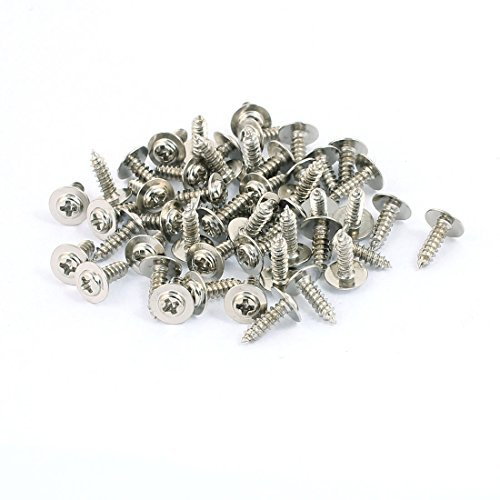 Amazon.com: eDealMax 50pcs 8x2.3mm cabeza Phillips de Acero ...