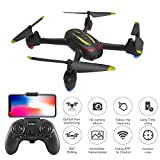 PinPle Quadcopter Drone with 1080P HD Camera, Live Video, FPV, Alititude Hold, Optical Flow Positioning, One Key Take Off/Land, Headless Mode, Speed Control, Perfect for Beginners RC Drone (Black)