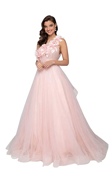 eb1a2564a9d Terani Couture - 1911P8479 Floral Applique Tulle Ballgown at Amazon Women s  Clothing store