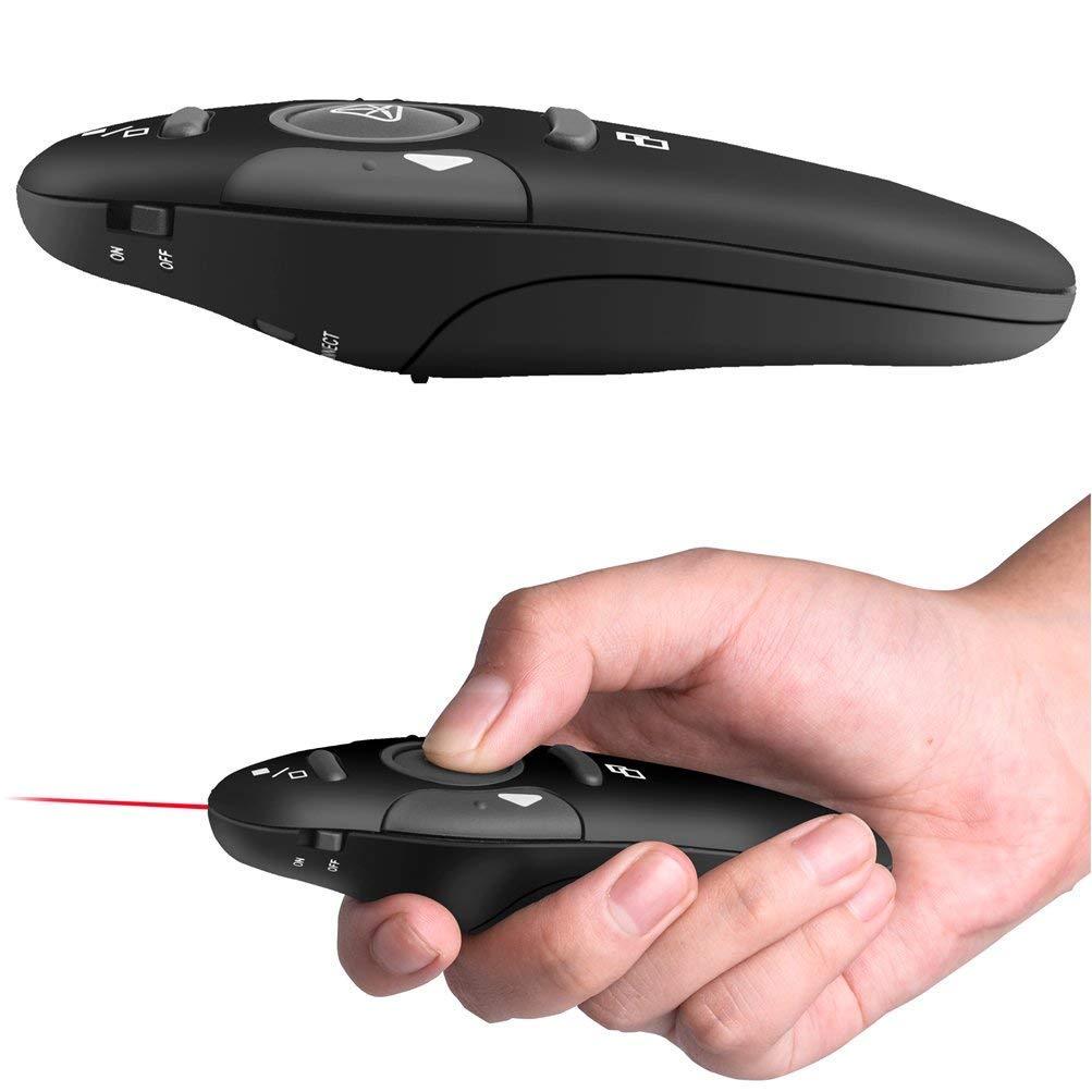 Prenine Presentatore Wireless 2,4 Ghz Con Penna Puntatori Rossi Usb Powerpoint Ppt Rf Telecomando Tornitura Pagine Per Presentazioni Didattiche Assemblee Di Scuola Vocale Nero