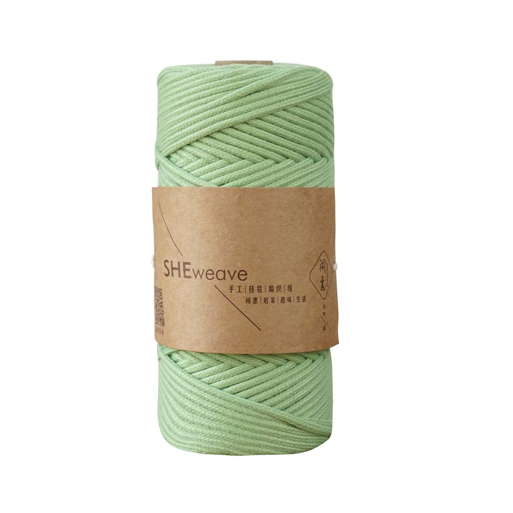 Natural Cotton Macrame Cord Rope,Braided 3mm 1//8inch 110 Yards for Plant Hanger Craft Wall Hanging Tapestry Handmade DIY Crafts Wine red, 3mm x 100m