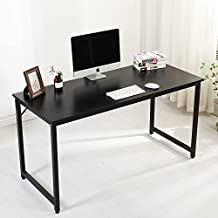 "Soges Computer Desk 55"" PC Desk Office Desk Workstation for Home Office Use Writing Table, Black JJ-B-140-CA"