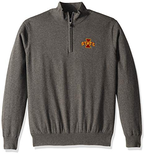 (Oxford NCAA Iowa State Cyclones Mens Men's Mansell Long Sleeve Line Wind Sweater PulloverMen's Mansell Long Sleeve Line Wind Sweater Pullover, Iron Gate, 2X-Large)