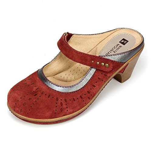 WHITE MOUNTAIN Shoes 'Gull' Women's Mule Maroon