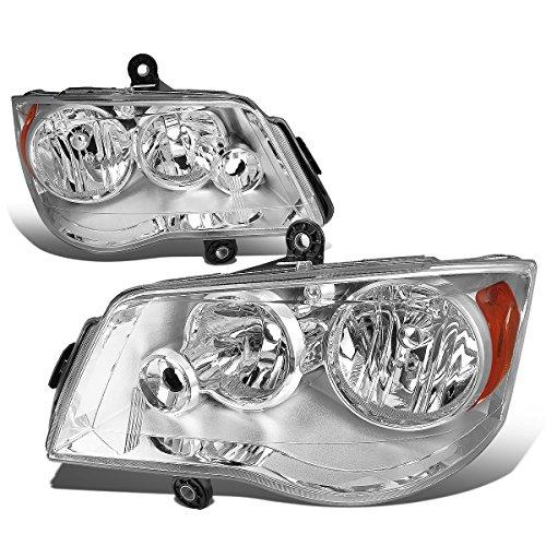 For Chrysler Town & Country/Grand Caravan 5th Gen Pair Chrome Housing Amber Corner Headlight Dodge Caravan Headlight Set