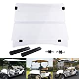 AW EZGO TXT 1995-2013 Clear Fold Down Windshield Impact Resistant Acrylic Golf Cart Split Windshield
