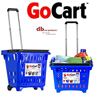 dbest products GoCart, Blue Grocery Cart Shopping Laundry Basket on Wheels (B00KXMB1YO) | Amazon price tracker / tracking, Amazon price history charts, Amazon price watches, Amazon price drop alerts
