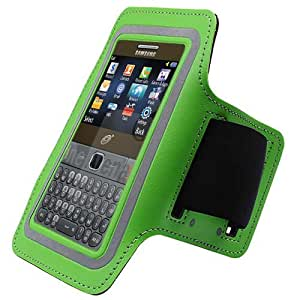 Green ArmBand Workout Case Cover For Samsung Freeform M T189N S390G with Free Pouch