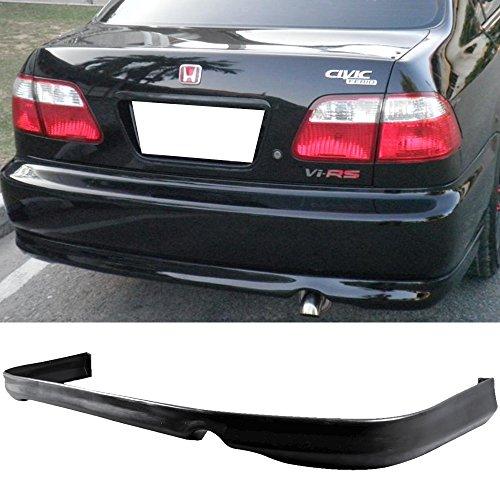 Rear Bumper Lip Fits 1996-1998 Honda Civic 2 & 4 Door | T-R Style PU Black Rear Lip Spoiler Splitter by IKON MOTORSPORTS (1997 Lip)