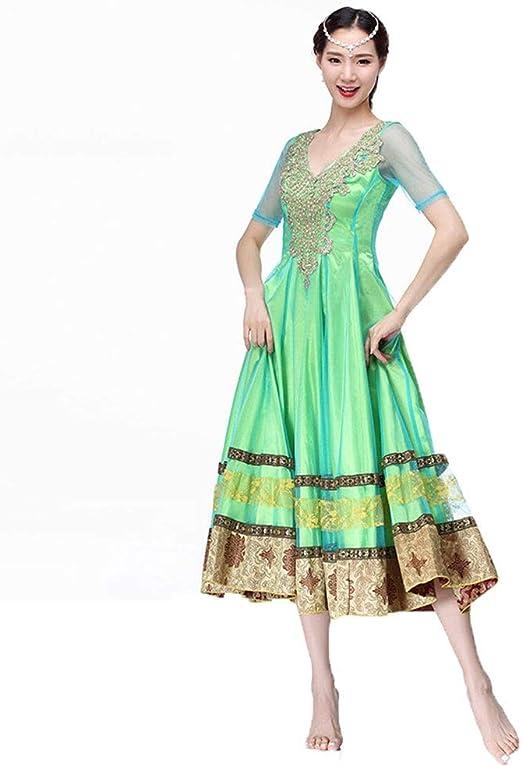 JIANPING Disfraz de Danza del Vientre Traje Indio de otoño e ...