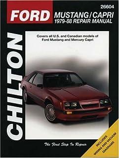 amazon com chilton ford mustang 89 93 repair manual 26606 rh amazon com Owners Manual for Ford Mustang 04 Ford Mustang Repair Manual
