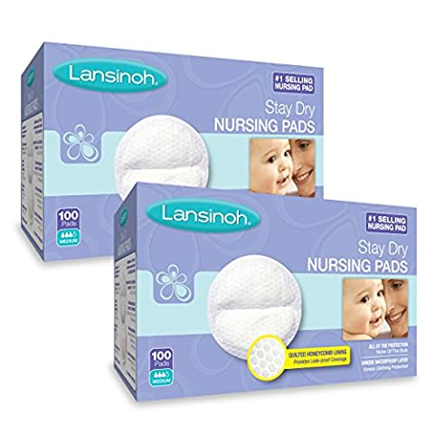 Lansinoh Stay Dry Disposable Nursing Pads (100 x 2), 200 Count - Lansinoh Disposable Breast Pads