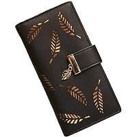 TELLM Lady Women Clutch Wallet Long Purse Wallet Black