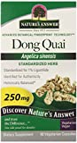 Nature's Answer Dong Quai Root Standardized, Vegetarian Capsules, 60 Count (Pack of 12)