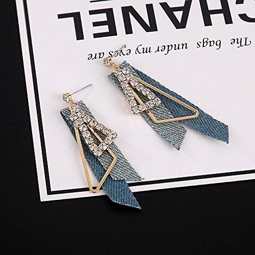 influx people elegant denim earrings earrings geometric triangle earrings super flash retro diamond earrings women girls