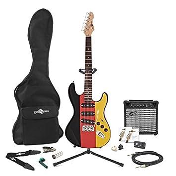 Guitarra Eléctrica LA Alemania + Pack de Ampli de 15W - Edición Especial: Amazon.es: Instrumentos musicales