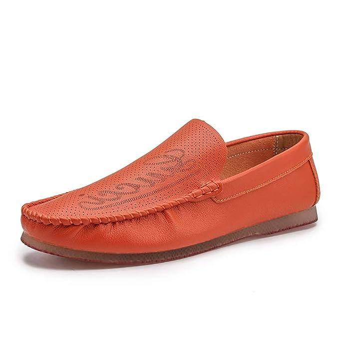 FHTD Mocasines para hombres Cuero genuino Negocio Zapatillas de conducción planas Hombres Mocasines casuales: Amazon.es: Ropa y accesorios