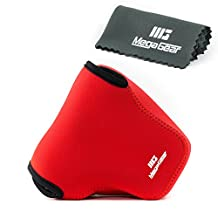 Megagear MG450 Ultra Light Neoprene Camera Case Bag for Panasonic LUMIX DMC-FZ1000 Digital Camera (Red )