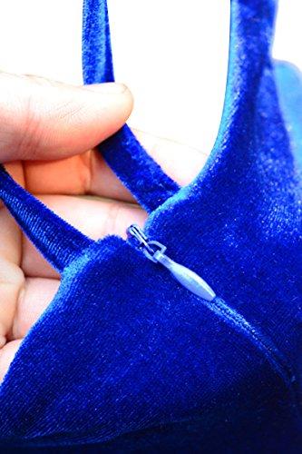 Sans Manches Sexy Club Lordose Femmes Yming Partie Mini-robe Bleue