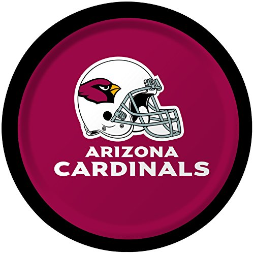 Creative Converting 8 Count Arizona Cardinals Paper Dessert Plates