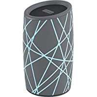 iHome iBT77 Portable Bluetooth Speaker with Speakerphone and Splashproof Fabric (Gray w/Light Blue)