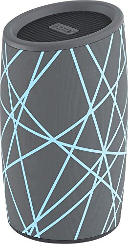 - iHome iBT77 Portable Bluetooth Speaker with Speakerphone and Splashproof Fabric (Gray w/Light Blue)