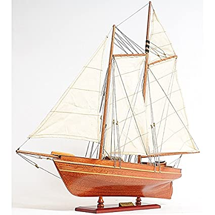 Amazon Com Old Modern Handicrafts America Yacht Model Boat Home