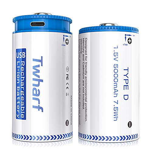 Twharf D Cell Batteries